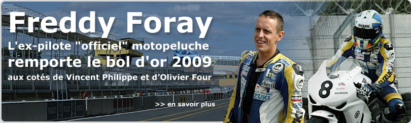 Freddy Foray, motopeluche ex-officiel pilote, wins the bol d'or 2009 with the sert